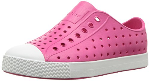 Native Kids Girls Jefferson Junior Water Proof Shoes, Hollywood Pink/Shell White, 6 Medium US Big Kid