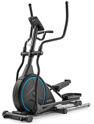 Elitum Crosstrainer MX1500 iConsole+ Ellipsentrainer mit Pulsmessung 24kg Schwungrad Belastbarkeit bis 150kg