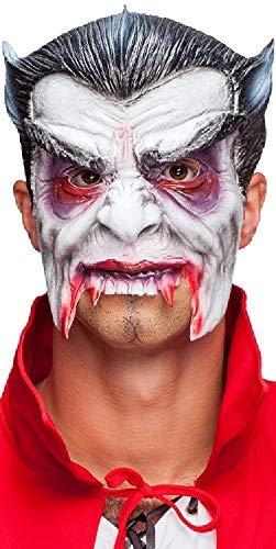(Mens Ladies Classic Halloween 3/4 Face Latex Vampire Horror Fancy Dress Costume Masks (Vampire))