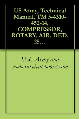 US Army, Technical Manual, TM 5-4310-452-14, COMPRESSOR, ROTARY, AIR, DED, 250 CFM 100 PSI TRAILER-MOUNTED, (NSN 4310-01-158-3262), COMPONENT OF PNEUMATIC ... military manauals, special forces