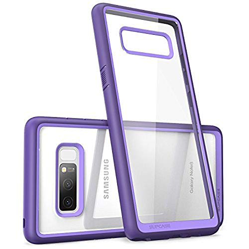 SUPCASE Unicorn Beetle Style Case Designed for Galaxy Note 8, Premium Hybrid Protective Clear Case for Galaxy Note 8 2017 Release (Purple)