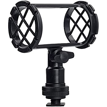 Amazon Com Movo Smm2 Microphone Shock Mount With Camera Cold Shoe