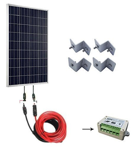 Starter Cable Brackets (ECO-WORTHY 100w Poly Starter Kit: 100w Polycrystalline Solar Panel + Solar Cable Adaptor + 15A PWM Charge Controller + Z Mounting Brackets)