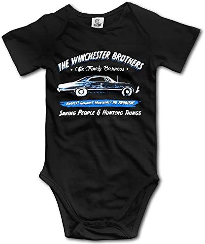 fenglinghua Babybody Unisex Baby Supernatural The Winchester Brothers Short Sleeve One-Piece Tops