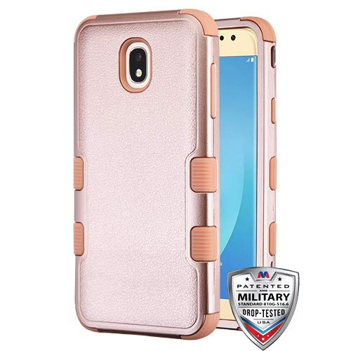5aa4038e57d Textured Rose Gold Rose Gold TUFF Hybrid Protector Cover  Military-Grade  Certified