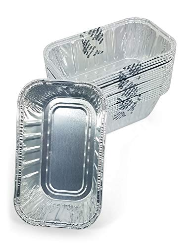 Mini Disposable Aluminum Foil Loaf Baking Pan for Breads, Cakes, Special Occasions, Holidays, Gift Giving, Bake Sales, Fundraisers, 5.6 x 3.2 x 1.9 in, 20 Count (1 Pack)