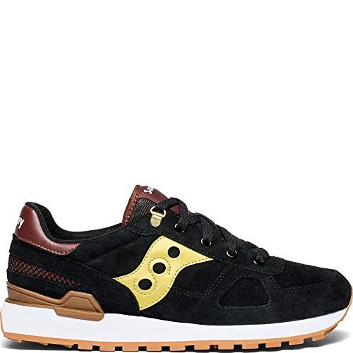 (Saucony Shadow Original Suede Ranger Men 10 Black | Gold)
