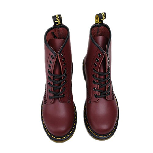 épais Couple Hiver Fashion Martin Boots Cuir Printemps Automne Dames Rouge Up Femmes NVXIE WINERED Flat Lace Chaussures Bottes Véritable Short Fond New antidérapant Vin Men EUR39UK665 Antidérapage qxSwY78P