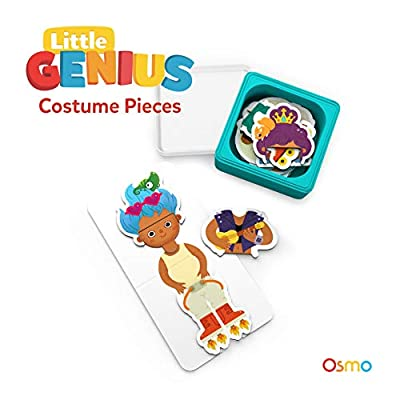 Osmo - Little Genius Starter Kit for Fire Tablet Bundle - 4 Hands-On Learning Games (Preschool Ages) - 4 Preschool Games Fire Tablet Base Included: Toys & Games