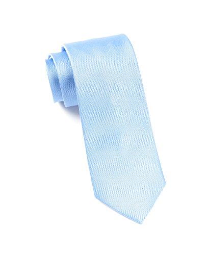 The Tie Bar 100% Woven Silk Carolina Blue GrosGrain Solid Tie (Carolina Woven Tie)