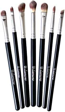 Makeup Eye Brush Set - Eyeshadow Eyeliner Blending Crease Kit - Best Choice 7 Essential Makeup Brushes - Pencil, Shader, Tapered, Definer - Last Longer, Apply Better Makeup & Make You Look Flawless