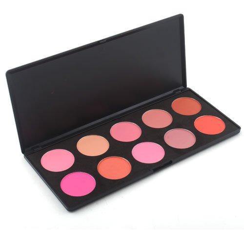 10 couleurs de maquillage cosmétiques rougissent palette de poudre buyincoins