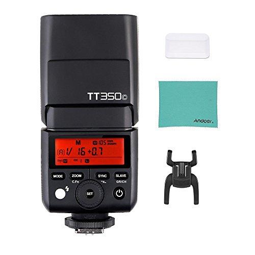 Godox Thinklite TT350C ミニ 2 4G ワイヤレス TTL カメラ フラッシュ マスター&スレーブ スピードライト 1/8000s HSS Andoerクリニングクロス付き Canon 5D MarkIII 80D 7D 760D 60D 600D 30D 100D 1100D デジタル Xカメラ用の商品画像
