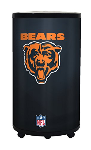 NFL Chicago Bears Ice Barrel Cooler, Black, 19'' by GLAROS
