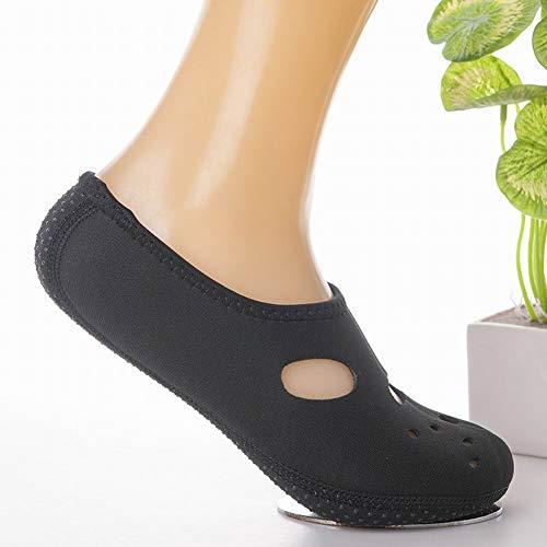Plage Nus Adultes Baignade Pieds Aqua Enfants Chaussures Surf Chaussettes Black Yoga Aerobics De Joyfan qwzxFCn