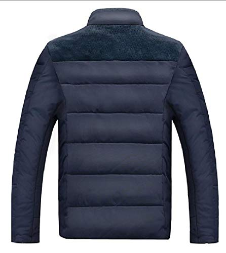 Casual Puffer Coat Fleece Blue Outerwear Parka Men's Lined Down Jacket security pq6xwXPOw