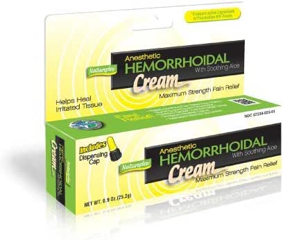 Anesthetic Hemorrhoidal Cream with Soothing Aloe Cream 2 Pack