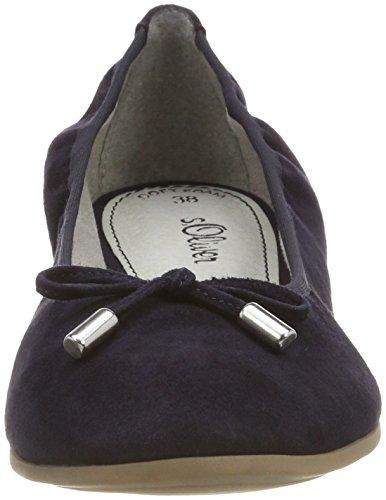 Geschlossene s Navy Oliver Ballerinas 22112 Damen Blau q1gP1tw