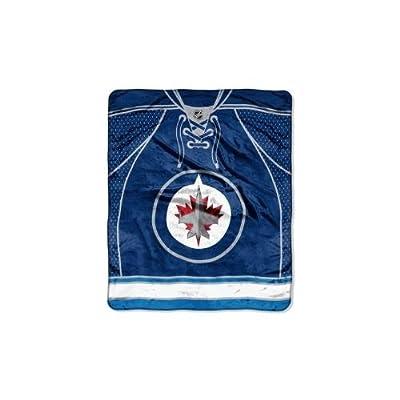 "NHL Jersey Plush Raschel Throw, 50"" x 60"""