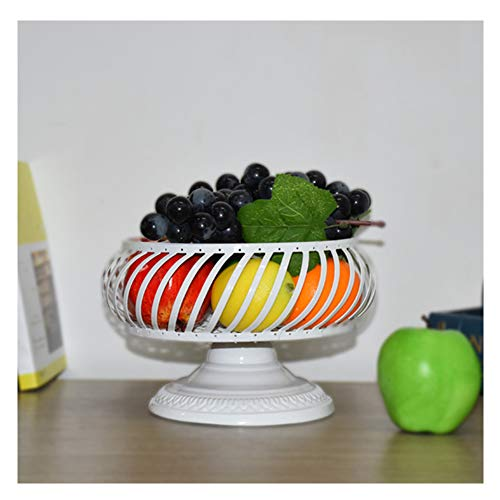 KEOA Countertop Fruit Basket, Creative Cake Bowl Stand for Bread Candy and Other Household Items,White - Assorted Fruit Seasonal Small Basket