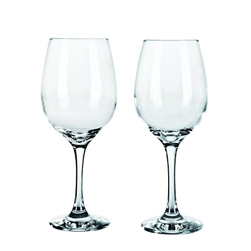 Consol Red & White Wine Glasses – Mixed Stemware Set 17oz and 13oz - Lead Free - Wine Glass set of 8, 4 Red 4 White, Clear (Combo, 8) (Mixed Red Glass)