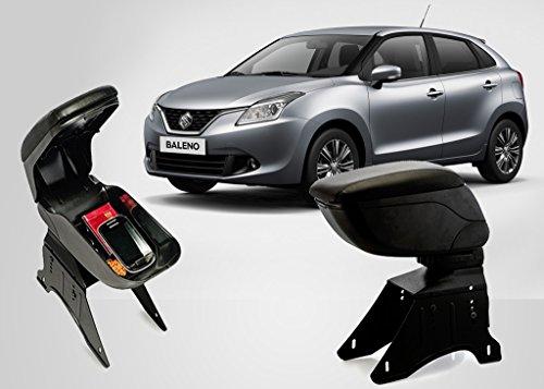Autopearl Premium Quality Black Armrest Console Box For   Maruti Suzuki New Baleno