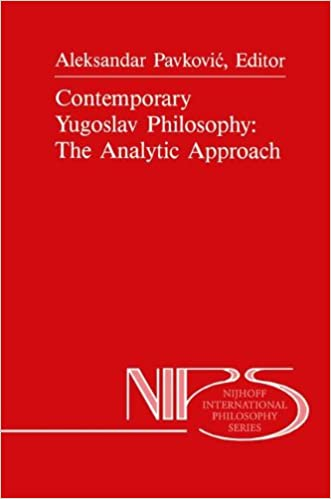 Book Contemporary Yugoslav Philosophy: The Analytic Approach (Nijhoff International Philosophy Series)