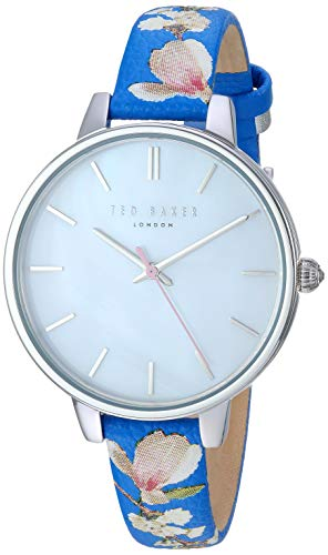 Ted Baker Women's ' 'Kate' Stainless Steel Analog-Quartz Watch with Leather Strap, Blue, 12: ((Model: TE50005019/17)
