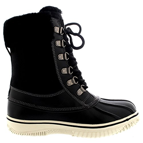 Winter Snow Suede Polar Calf Boots Real Womens Cuff Australian Mid Black Polarr nx0gSYp7w