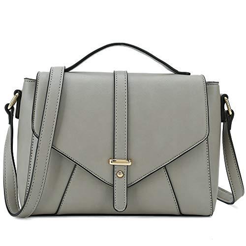 Ladies Designer Purses Cross Body Handbags Trendy Bags for Women Shoulder Bags (Light Grey)