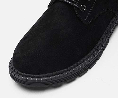 viaggi Uomo Casual Rui Outdoor Martin Boots Dimensione up Scarpe Autunno top Da Scarpe Plus Lace Nero Cotton 44 colore Martin Inverno uomo high Nuovo PqwZfrqE