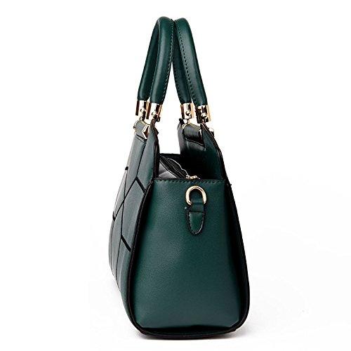 DHFUD Bolso De Hombro De La Mujer Messenger Bag Stitching Fashion Green