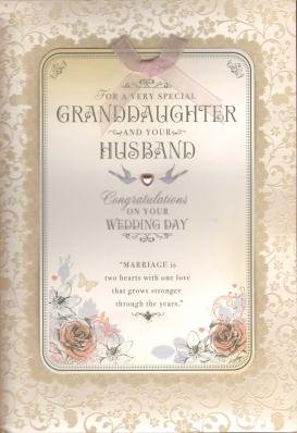 Granddaughter And Husband On Your Wedding Day Card