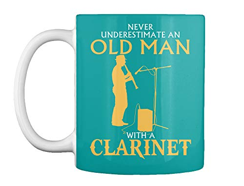 Never underestimate an old man with a clarinet Mug - Teespring Mug