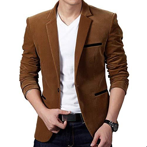 Elegante A Uomo Lunghe Moderna Giacche Fit Suit Bavero Giacca Casual Khaki Slim Da Dunkles Leisure Maniche Business Pg8nwqT