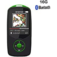 RUIZU Sport Bluetooth 16 GB MP3 Player Hifi Lossless Sound with FM Radio (Easy to operate) -Support up to 64GB Micro SD Card-Green