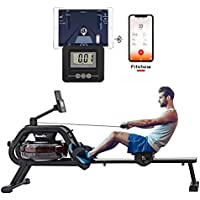 HouseFit Water Rower Rowing Machine with Bluetooth APP 330Lbs Weight Capacity for Home use Water Resistance Row Machine…