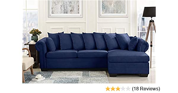 Amazon Com Modern Large Fabric Sectional Sofa L Shape Couch With