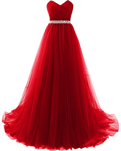 MILANO BRIDE Strapless Empire-Waist Long Prom Evening Dresses 2018 - Red Dress Milano