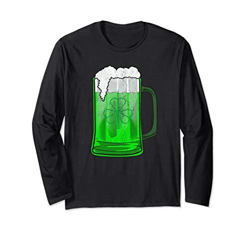 - GREEN SHAMROCK BEER MUG ST PATRICKS DAY Long Sleeve Tshirt