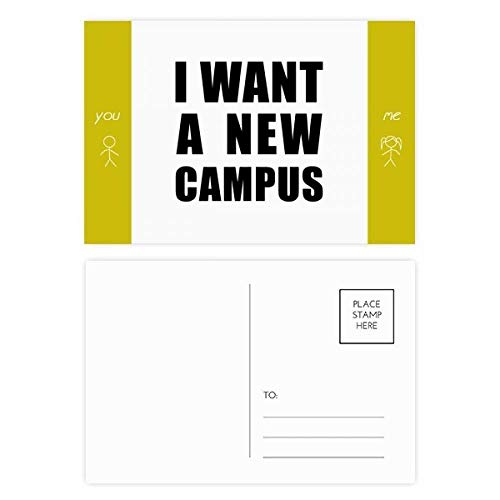 I Want A New Campus Friend Postcard Set Thanks Card Mailing Side 20pcs