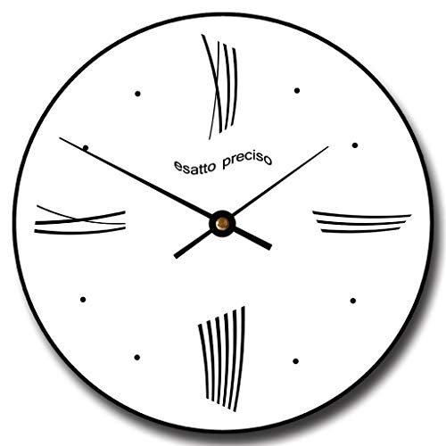 Modern Roman Wall Clock, Available in 8 Sizes, Most Sizes Ship 2-3 Days, Whisper Quiet.