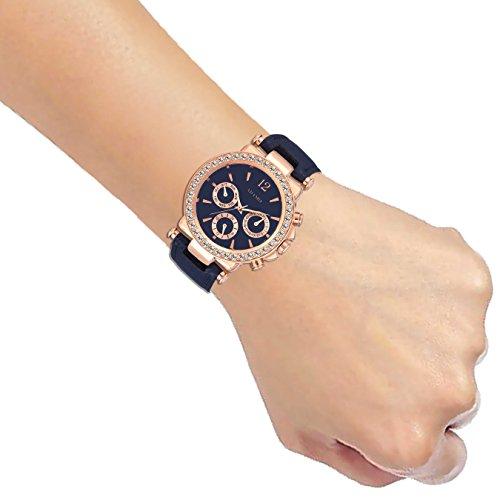 410r7oD17UL. SS500  - ADAMO Multifunction Analog Blue Dial Women's Watch - A208KB05