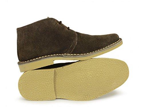 Roamers Herren 2Eye geformte Fuß Wildleder Desert Boots Braun Browns