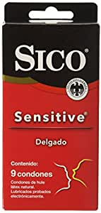 Sico Sensitive Delgado, Cartera de 9 Condones