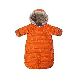 7AM Enfant Doudoune One Piece Infant Snowsuit Bunting, Orange Peel, Medium