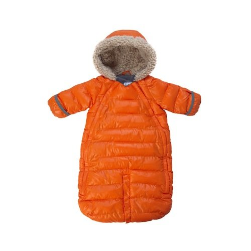 7AM Enfant Doudoune One Piece Infant Snowsuit Bunting, Orange Peel, Small