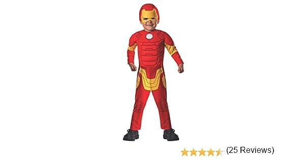 Avengers - Disfraz de Iron Man Deluxe para niños, infantil talla 1 ...