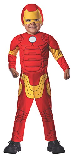 Marvel Classics Avengers Assemble Padded Muscle Chest Iron Man Costume, Toddler -