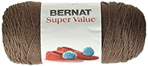 Bernat 16405353012 Super Value Yarn, Taupe, Single Ball, 1 Pack